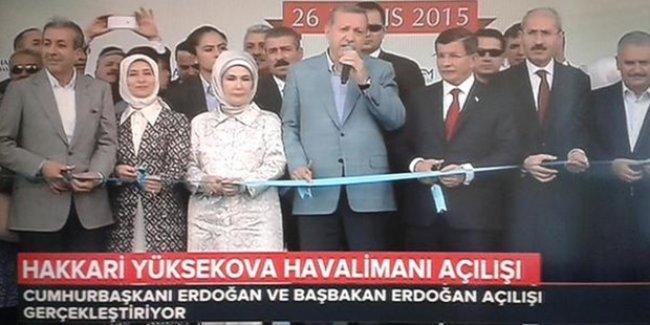 TRT: Cumhurbaşkanı Erdoğan ile Başbakan Erdoğan açılışta!