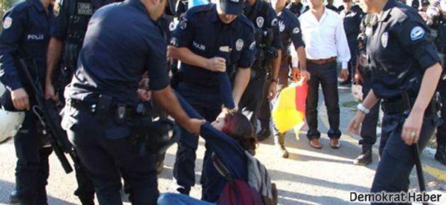 TRT önündeki İnançer protestosuna polis müdahalesi