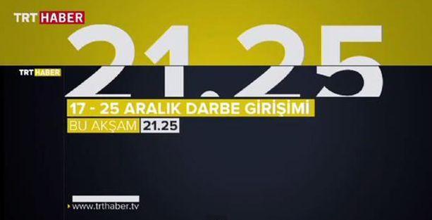 TRT'den 17 Aralık için 'yüzde 50'lik belgesel: '17-25 Aralık Darbe Girişimi Belgeseli'