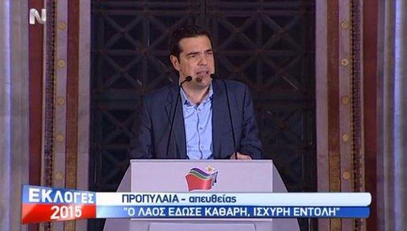 Tsipras: Bugün Yunanistan'da elitler ve oligarklar kaybetti