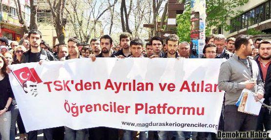 'TSK'den Ayrılan ve Atılan Öğrenciler Platformu' eylem yaptı