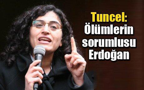 Tuncel: Ölümlerin sorumlusu Erdoğan