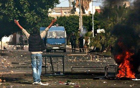 Tunus'ta çatışmalar