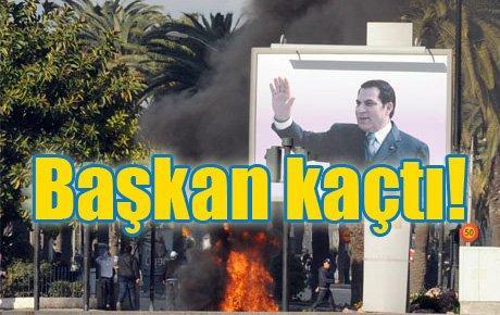 Tunus'ta isyan başkanı kaçırttı