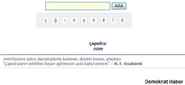 Türk Dil Kurumu'ndan 'çapulcu' ayarı