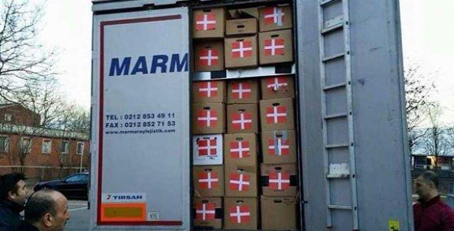 Türkiye, Danimarka'nın Kobani'ye yardım TIR'ını ülkeye almadı ve geri gönderdi
