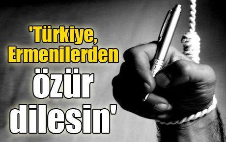 'Türkiye, Ermenilerden özür dilesin'