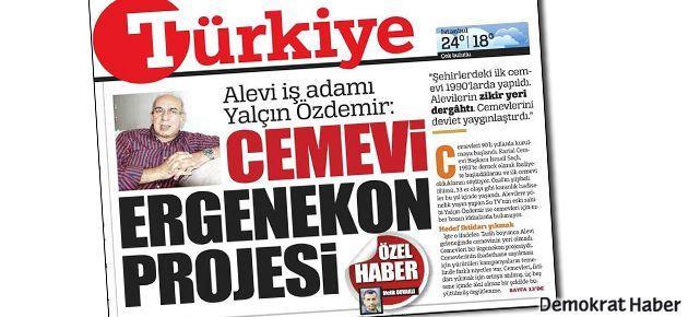Türkiye gazetesi mezhepçi çıktı