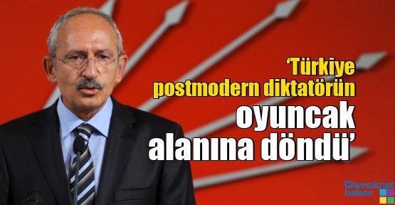 'Türkiye postmodern diktatörün oyuncak alanına döndü'