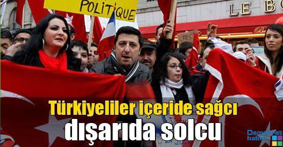 Türkiyeliler içeride sağcı dışarıda solcu