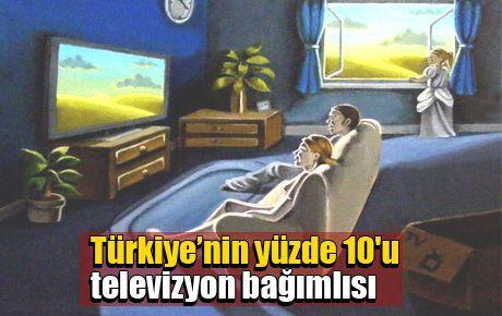 Türkiye'nin yüzde 10'u televizyon bağımlısı