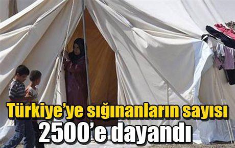 Türkiye'ye sığınanların sayısı 2500'e dayandı