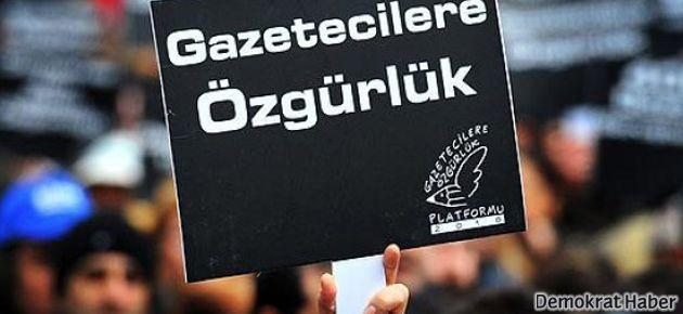 Tutuklu gazeteciler için 'duran insan' eylemi