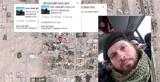 Twitter'da paylaşım yapan IŞİD'li, yer bildirimi de yaptı