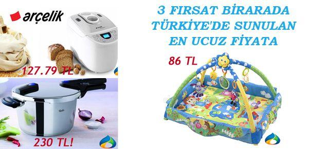Üç ürün Türkiye'de sunulan en ucuz fiyata