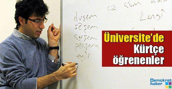 Üniversite'de Kürtçe öğrenenler