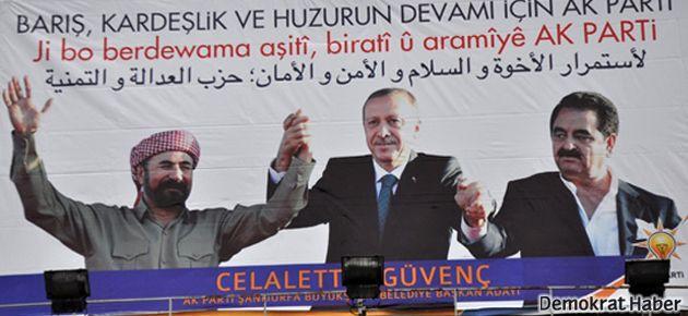 Urfa'daki AKP afişleri Şivan Perwer'i üzdü