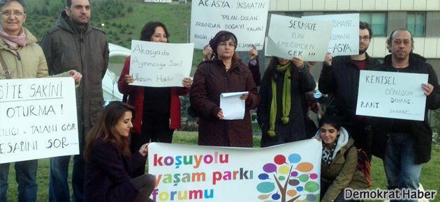 Üsküdar'da ayrımcılık protestosu
