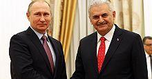 Başbakan Yıldırım'ın Putin ile görüşmesi sona erdi