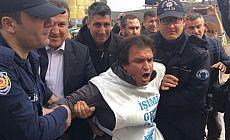 Aydın'da 'işimi geri istiyorum' diye eylem yapan 5 kişi gözaltına alındı