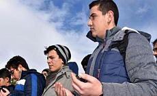 Sivas'ta öğrenciler 'kar duası'na çıkarıldı