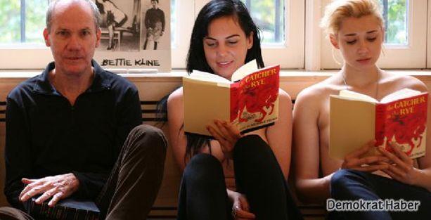 'Üstsüz Kitapseverler'den okuma etkinliği