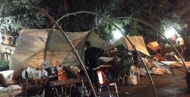 Validebağ'da kurulmak istenen tek çadıra polis engeli!
