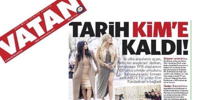 Vatan'dan cinsiyetçi ve ırkçı Kim Kardashian manşeti