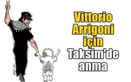 Vittorio Arrigoni için Taksim'de anma