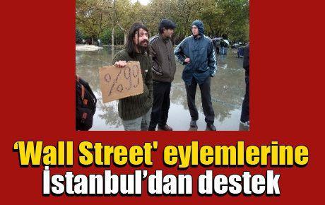 'Wall Street' eylemlerine İstanbul'dan destek