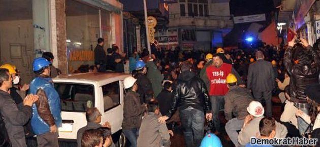 Yatağan işçilerine polis müdahalesi