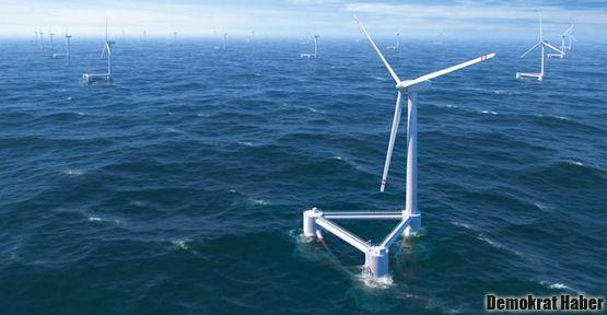 Yeni nesil rüzgar santralleri suya açıldı