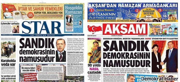 Yine farklı gazeteler, yine Erdoğan'ın aynı sözleri