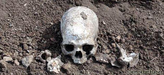 Yol kazısında insan kemikleri çıktı