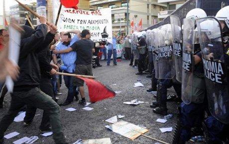 Yunanistan'da göçmen eylemi