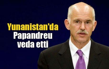 Yunanistan'da Papandreu veda etti