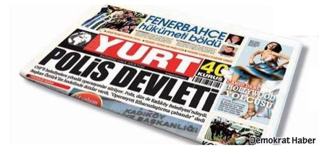 'Yurt' gazetesinde ayrılık