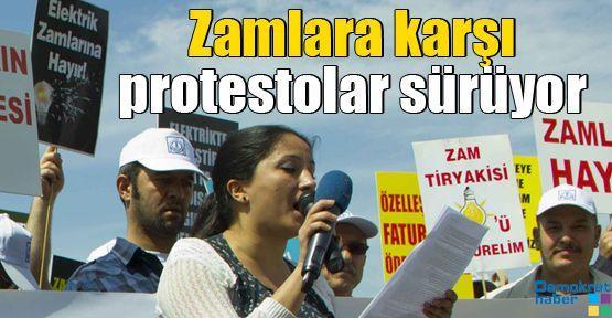 Zamlara karşı protestolar sürüyor