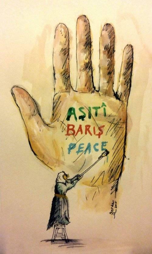 Serdar Mutlu çizdi: Aşitî, Barış, Peace